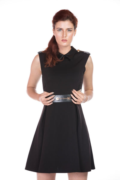 BLACK MINI DRESS WITH BELT