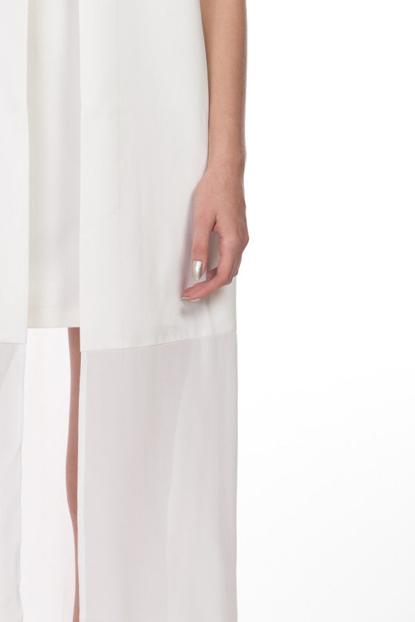 TWO LAYERED WHITE  DRESS