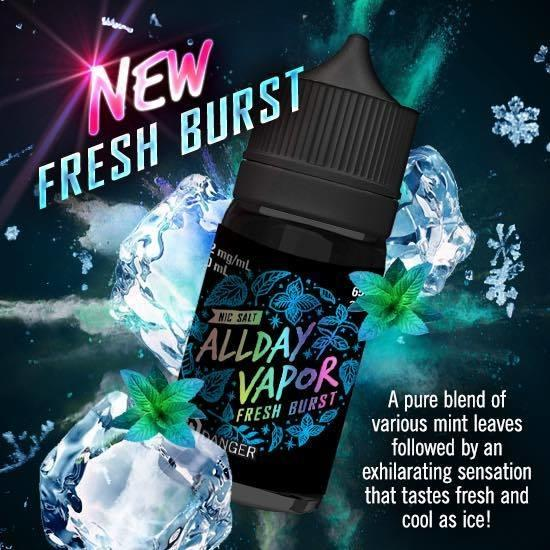 ALLDAY Vapor Nic Salt - Fresh Burst 30ml