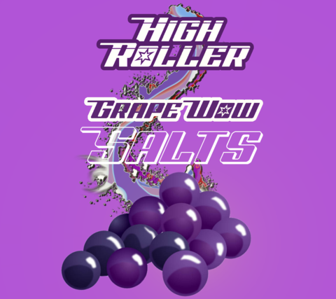 High Roller Nic Salt - Grape Wow Salts 30ml