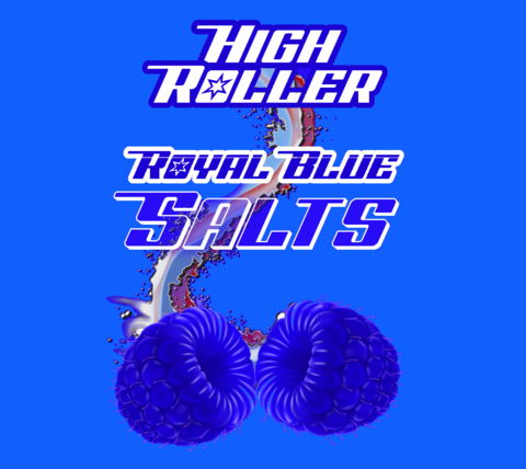 High Roller Nic Salt - Royal Blue 30ml