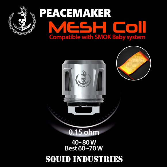 Squid Industries PEACEMAKER MESH Replacement Coils - 5PK