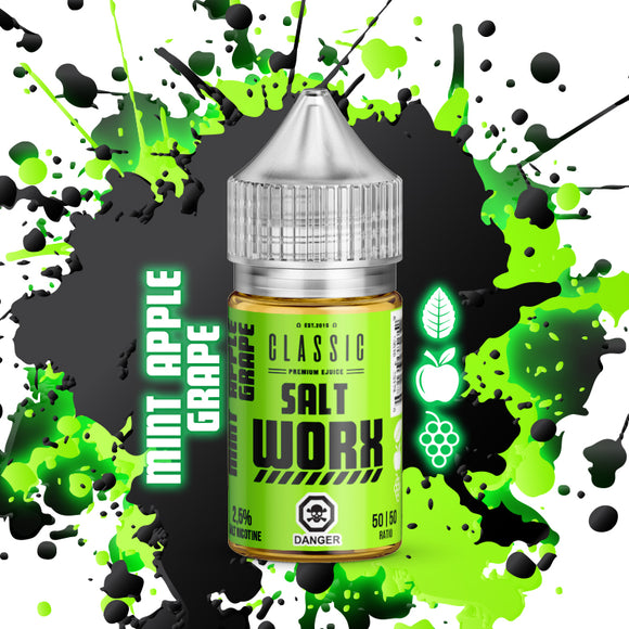 SALT WORX Nic Salt - Mint Apple Grape 30ml