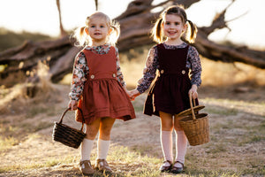 Essentials Pinafore dress Rust