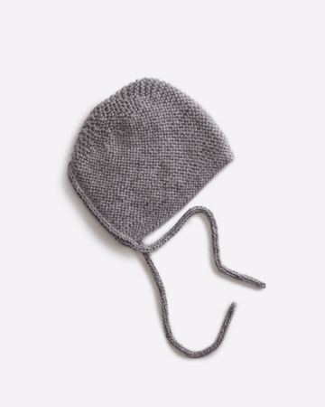 Grey Barbara Bonnet by Hank Knitwear