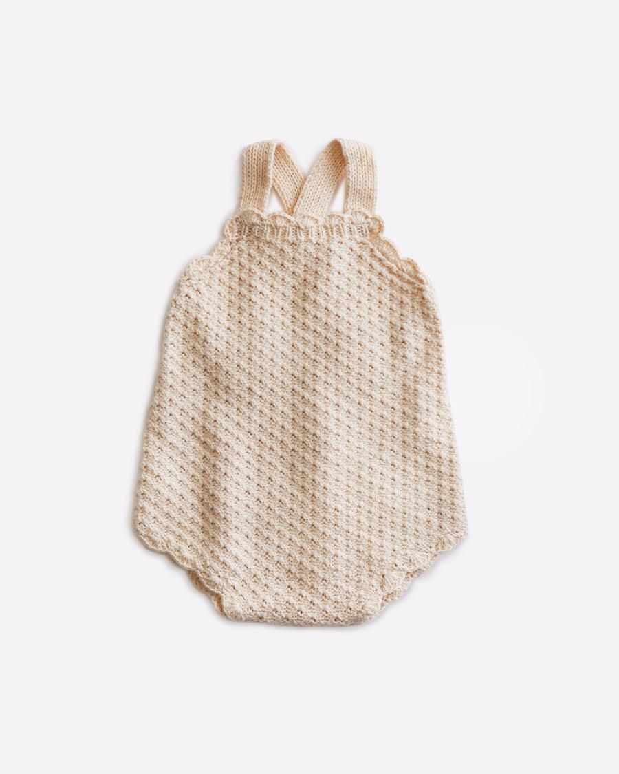 Hazel Sleeveless Baby Romper - Cloud