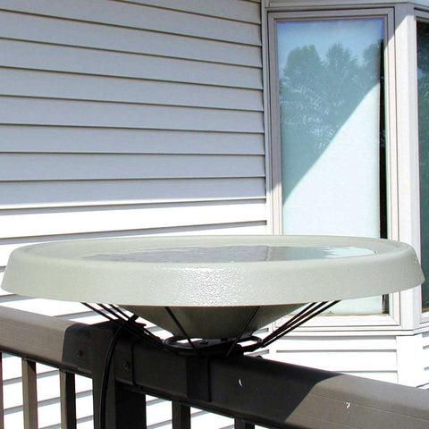 White Heated Bird Bath Deck Mounted