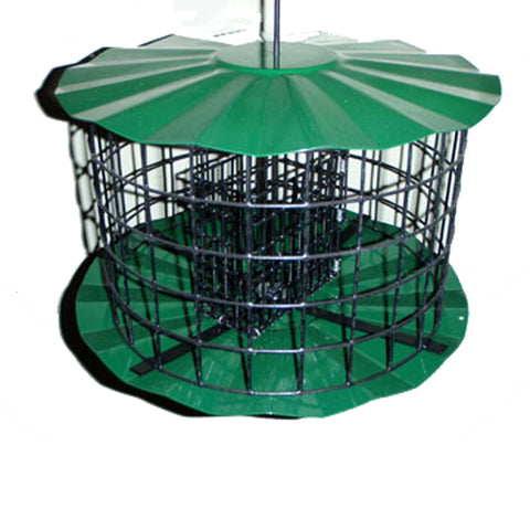 Round Metal Double Suet Feeder