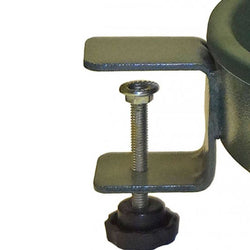 Bird Bath With Green Metal Band And Tub - Clamp Mount