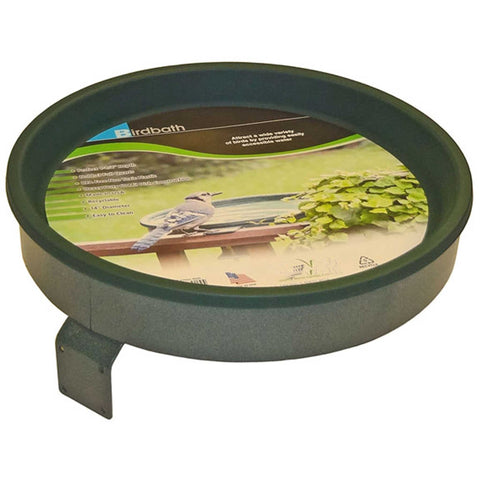 Bird Bath With Screw Mount In Green