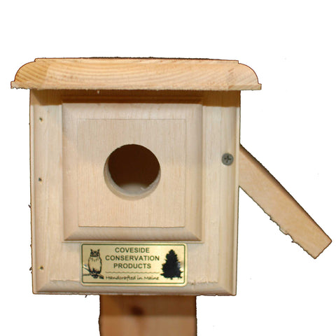 Horizontal Bluebird House Front Open