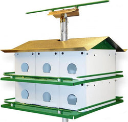 Purple Martin House 12 Compartment With Roof Perch