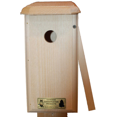 Nuthatch Bird House Side Open