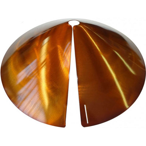 Cone Squirrel Baffle For Pole In Copper Tint