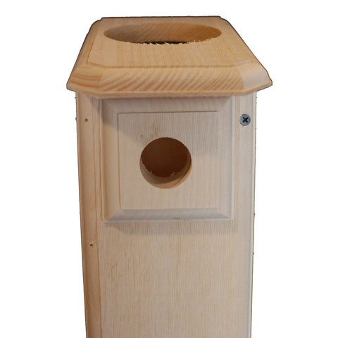 Bluebird House With Top Cap Off