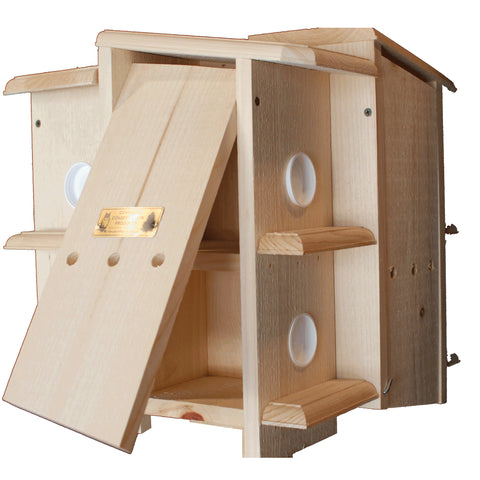 Wooden Purple Martin House With Side Open