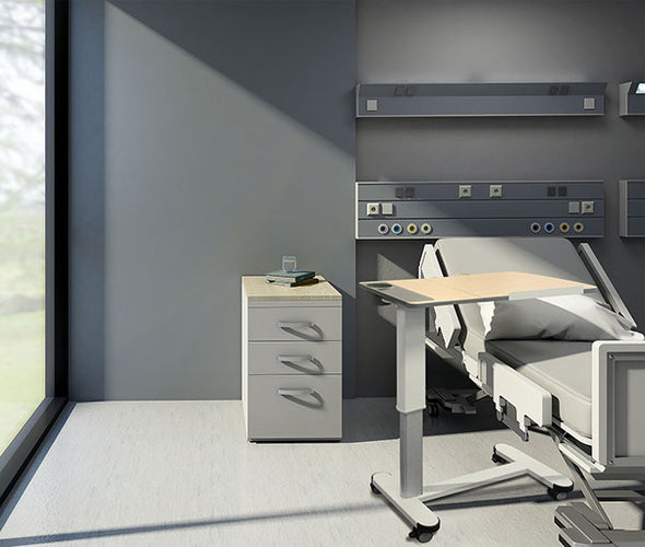 Adjustable Overbed Patient Table