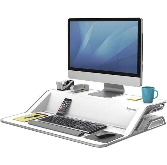 Fellowes Lotus Sit Stand Workstation: White