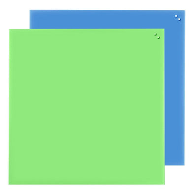 NAGA Coloured Magnetic Glassboard: 1000mm x 1000mm