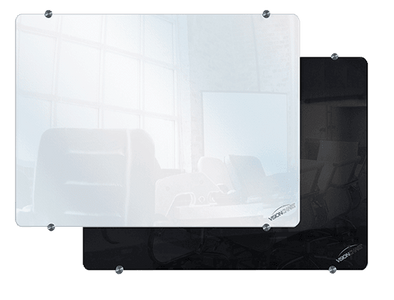 Visionchart Clarion Magnetic Glassboard - White or Black