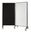 Front View of Mobile Room Divider Whiteboard Pinnable