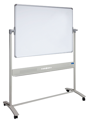 Front View of Mobile Commercial Whiteboard