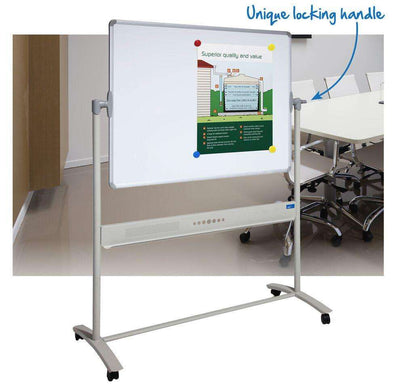 Visionchart Mobile Pivoting Porcelain Whiteboard