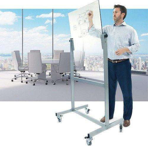 VisionChart Space Mobile Glassboard - Clear
