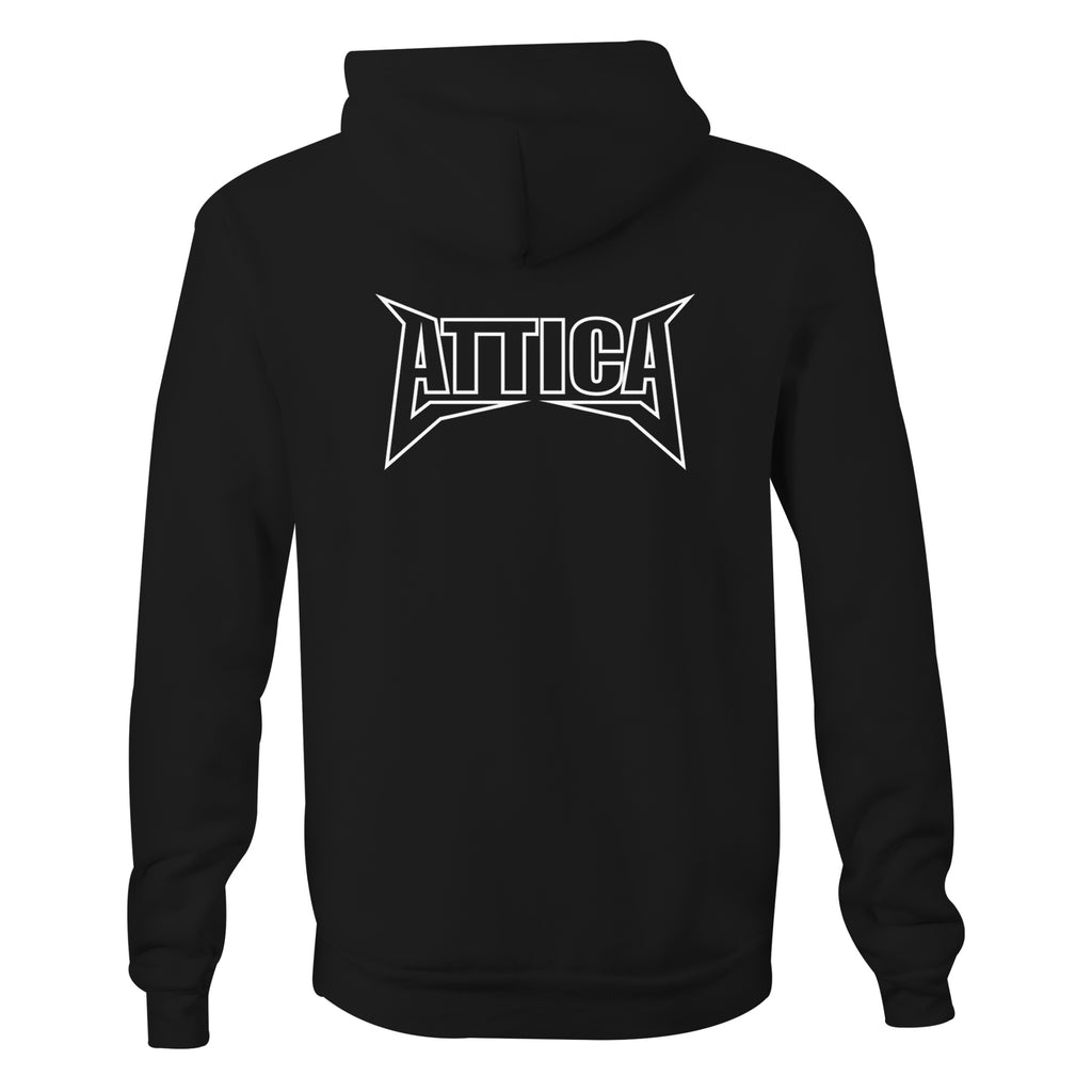 ATTICA 'MENTAL' Hooded Jumper - Black