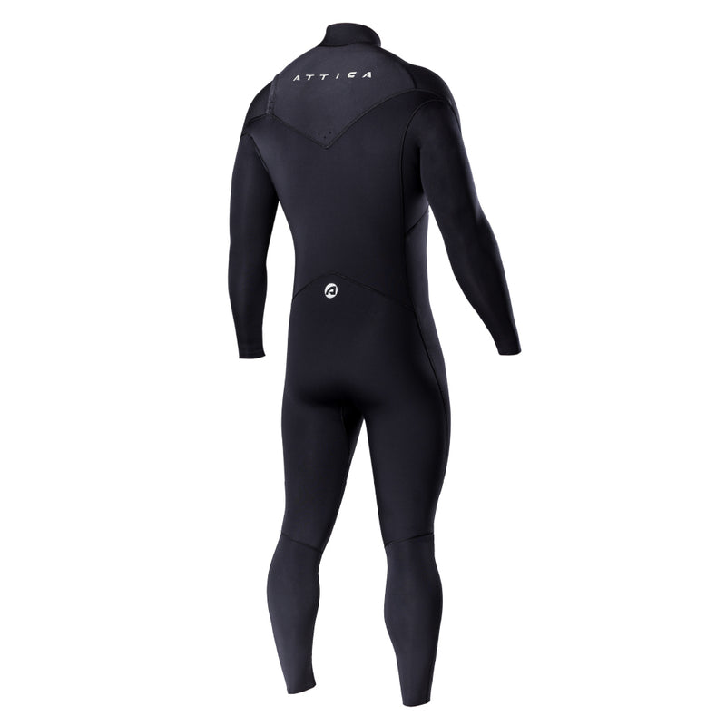 OMEGA Chest Zip 3/2mm Steamer - BLACK / WHITE - ATTICA Wetsuits