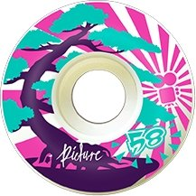 "Picture Wheel Co - 80A Soft Street ""Kushi"" Wheels 58mm - Parliamentskateshop"