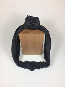 Turban - Black Satin