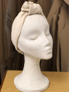 Turban - White Satin - Lantoki