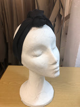 Turban - Black Satin - Lantoki