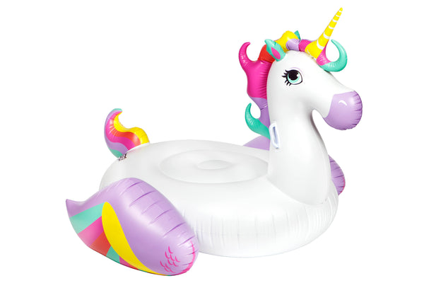 Giant Blow Up Pool Float - Unicorn Ride On - Work Home Play