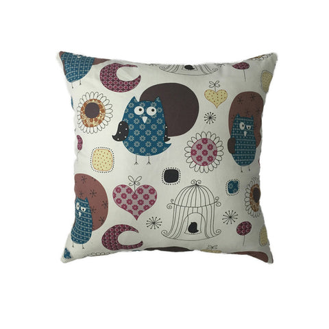 Cushion - Night Owls, Aqua