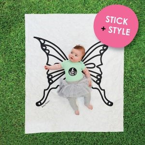 Baby Milestone Backdrop - Butterfly Scene - Work Home Play