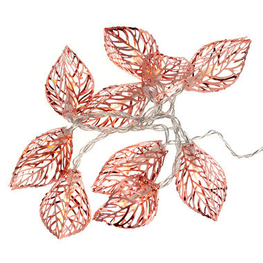 String Lights - Copper Leaves - Work Home Play