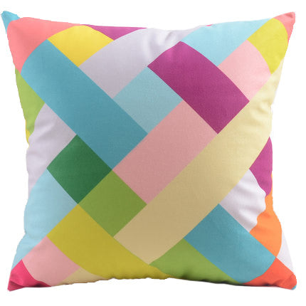 Candy Coloured Geometric Cushion Cover - Work Home Play