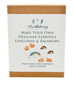 Make your own Designer Earrings - Unicorn & Rainbow - Work Home Play