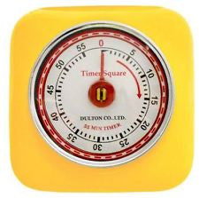 Dulton Magnetic  Industrial Retro Kitchen Timer - Yellow - Work Home Play