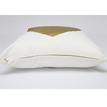 Metallic Gold Heart Cushion Cover 45x45 - Work Home Play
