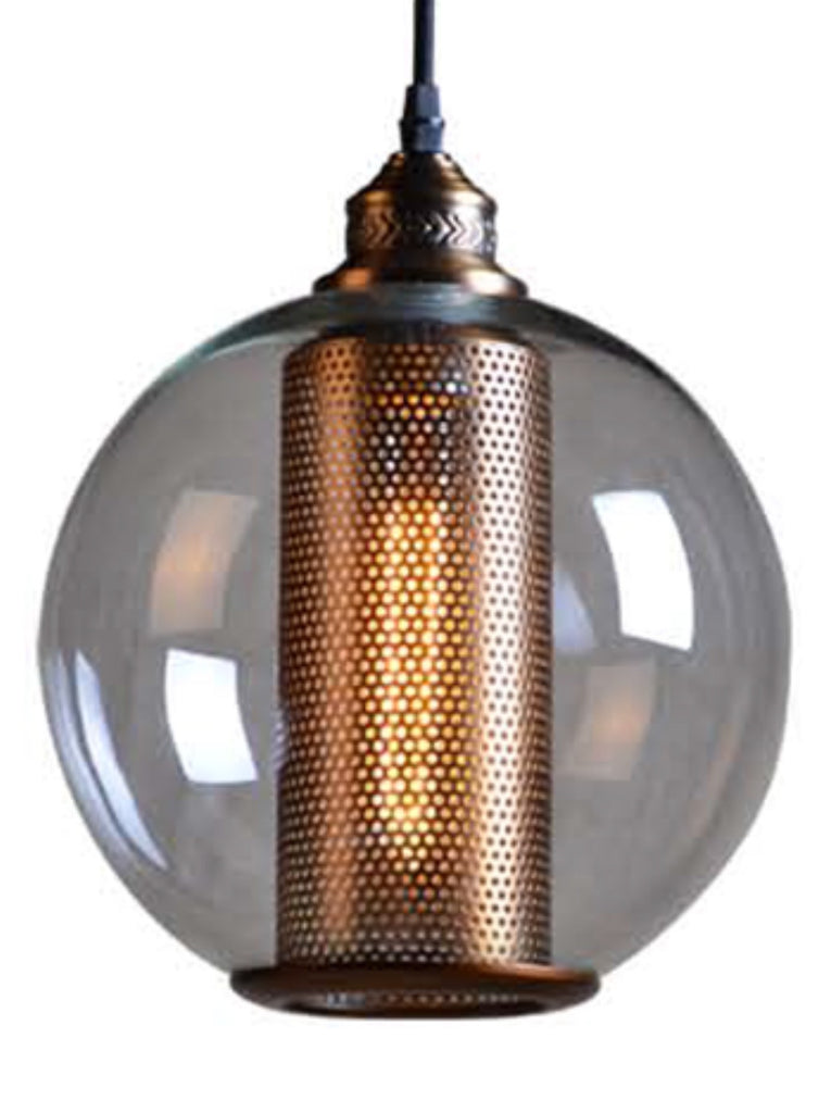 Golden Spherical Dome - Hanging Light
