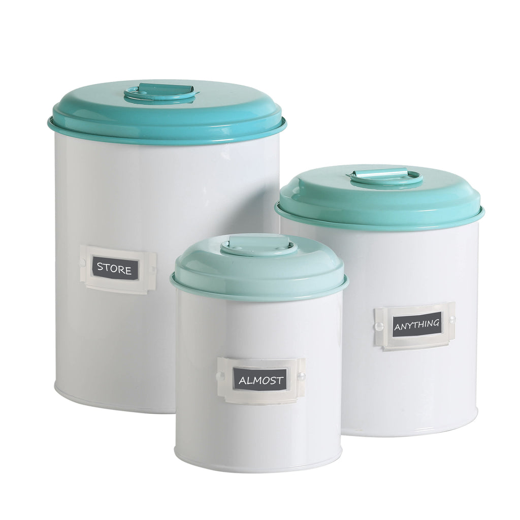 Storage Tins - Turquoise - Work Home Play