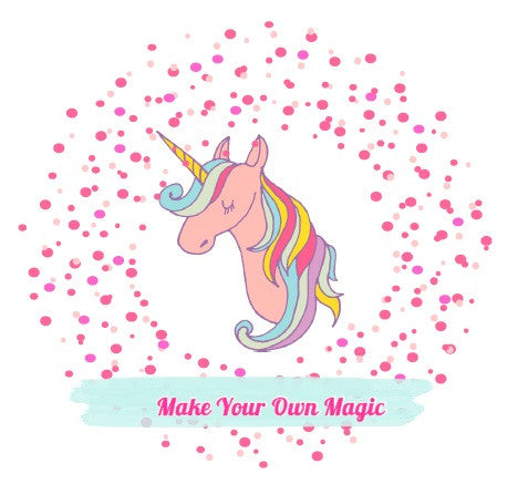 Greeting Card with Sample Unicorn Flurry - Work Home Play