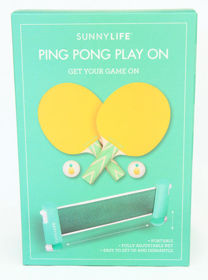 Novelty Game - Portable Ping Pong Table Tennis Set - Work Home Play