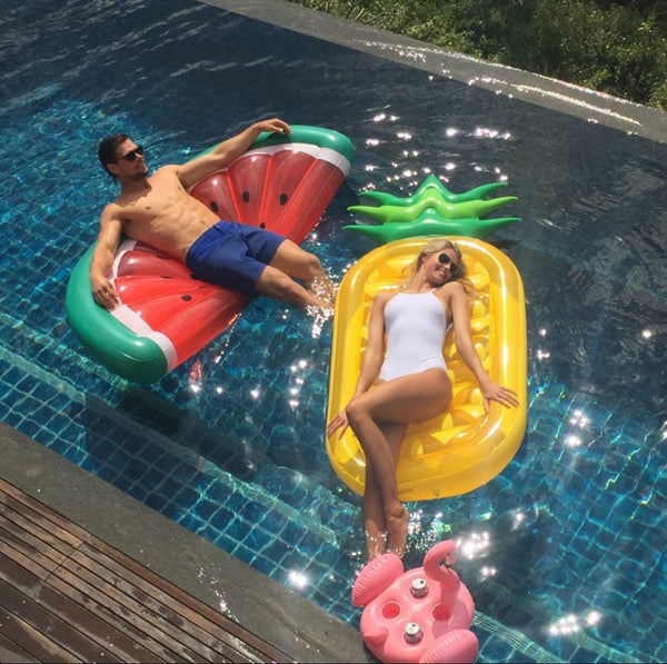 Blow Up Inflatable Pool Float - Rainbow - Work Home Play