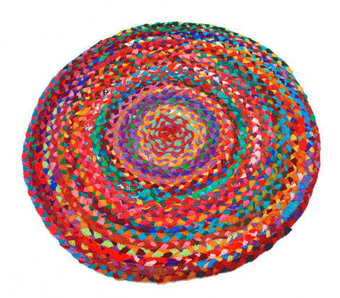 Rug Braided Cotton Round, 60cm - Work Home Play