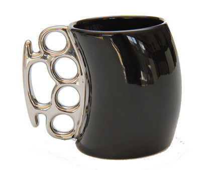 Fist Mug - Black Gloss Ceramic - Work Home Play