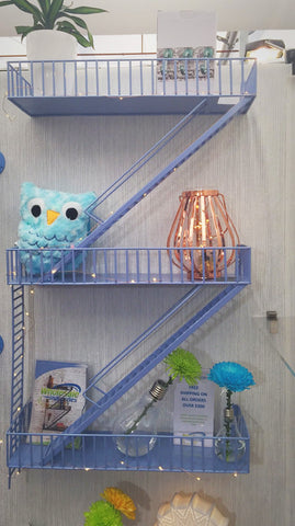 Loft Staircase Shelf - Fire Escape BLUE
